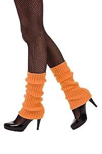 Bristol Novelty BA3314 - Calentador de piernas para mujer, color naranja neón