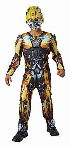 Bumblebee Kinder Kostüm Deluxe - Rubie's Transformers Kinder Kostüm Bumblebee Deluxe 13 bis 14 Jahre