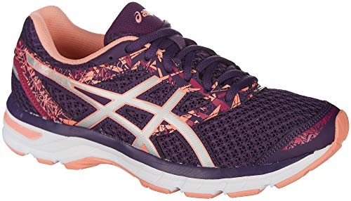 ASICS Women's Gel-Excite 4 Running Shoe, Grape/Silver/Begonia Pink, 9 M US