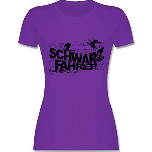 Après Ski - Schwarzfahrer Ski - tailliertes Premium T-Shirt mit Rundhalsausschnitt für Damen Lila