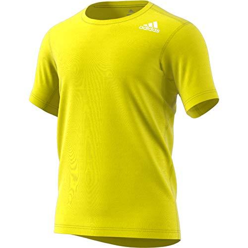 adidas Herren Freelift Fit Elite Kurzarm T-Shirt, Shock Yellow, 2XL -