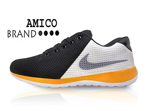 Amico Black White Men s Casual Shoes - Aks Deals e968d77f1