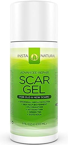 Instanatural - Gel/Crème réparatrice pour cicatrices et imperfections de la peau- Aide à la reconstruction de l'épiderme - Contient du bioferment de varech (algues naturelle) et de l'astaxanthin (antioxydant) -