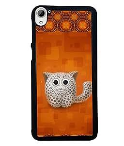 Fuson 2D Printed Cat Designer back case cover for HTC Desire 826 - D4153