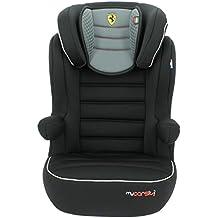 Silla de coche ISOFIX Ferrari Confort de 15a 36kg–Creación 100% francesa–3estrellas Test TCS–4colores–Protecciones Laterales–Cale cabeza acolchado y ajustable–Reposabrazos relevables