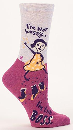 im-not-bossy-im-the-boss-womens-crew-calcetines