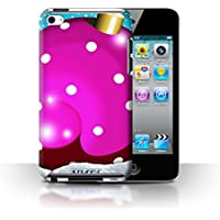 Custodia/Cover Rigide/Prottetiva STUFF4 stampata con il disegno Palline di Natale per Apple iPod Touch 4 - Punti/Viola