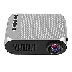 Mini Projektor 1080P Realistische Farben Home LED Projektor, tragbarer Home Mini HD Projektor HDMI USB Home Media Player(EU)