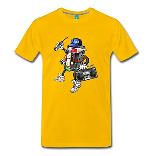 80er Jahre Retro Best Of Männer Premium T-Shirt von Spreadshirt®, XL, Sonnengelb (Vintage 80er Jahre T Shirts)