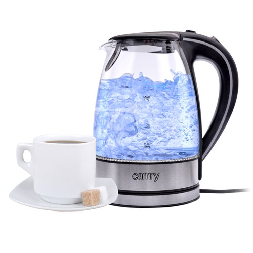 Wasserkocher Camry CR 1239, 1,7 L Edelstahl-Glas