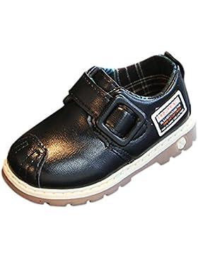 PAOLIAN Verano Casual Zapatos Para Niños Botas Zapatos de Niñito Antideslizante Cuero Zapatos de Niñito Encantador...