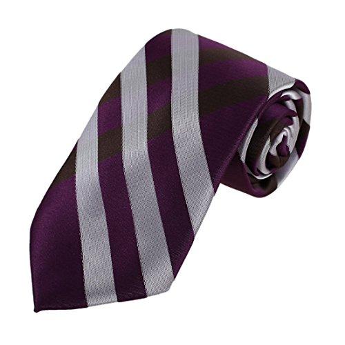 DAA7C09-10 Karierte Krawatte Woven Microfiber Krawatten Für Abschluss Von Dan Smith DAA7C10C-Lila