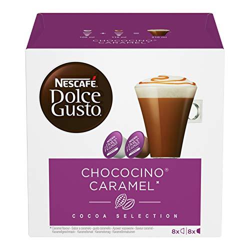 NESCAFE DOLCE GUSTO CHOCOLATE CHOCO CARAMEL PODS 8 DRINKS