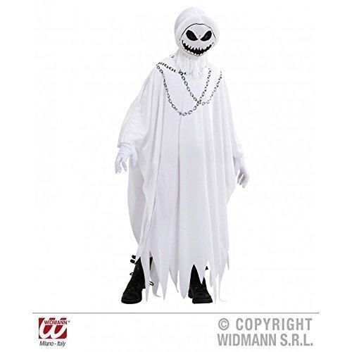 Lively Moments Kinderkostüm / Halloweenkostüm böser Geist in weiß Größe mit Maske / Fasching / Halloween Gr. 128 ( 5 - 7 Jahre )