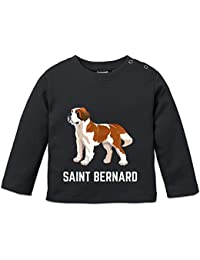 Saint Bernard Illustration Baby Long Sleeve Shirt by Shirtcity