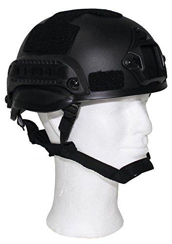 """US Helm """"MICH 2002"""" Rails, schwarz, ABS-Kunststoff"""