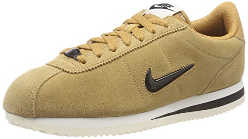 Nike Herren Cortez Basic SE Sneaker, Orange (Elemental Gold/Black-Sail 700), 43 EU (Nike Wildleder Sneakers)