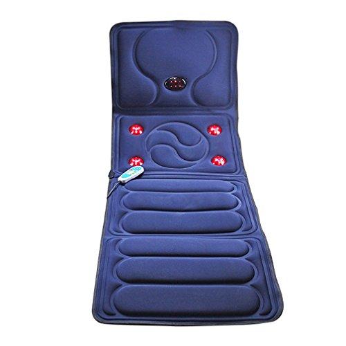 Elektrische Massage-Matratze, Multifunktionale Heizung Infrarot-Faltbare Sitzkissen Körper Bett Mit Wohltuenden Wärme Vibration Home Massagematte, 65 In X 23 In