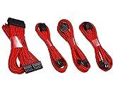 upHere Câble de rallonge pour Alimentation électrique avec Manchon 24 Broches 8 Broches 4 + 4 Broches 500 mm de Longueur avec Peignes Rouge 50 cm