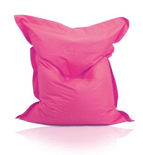 Kinzler S-10026/12 XXL Riesensitzsack, 140x180 cm, Sitzsack Outdoor Indoor, in vielen verschiedenen Farben, mit Innensack, pink - Bean Tür Bag