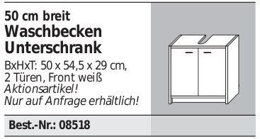 Fackelmann Standard Waschbecken Unterschrank 50 - 2
