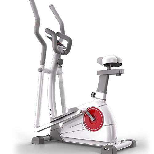 YUSDP 2 in 1 Indoor Magnetic Heimtrainer - 22 Pfund schweres Schwungrad, Verstellbarer Komfortsitz, APP Smart Connection - für das Heim-Cardio-Fitness-Workout