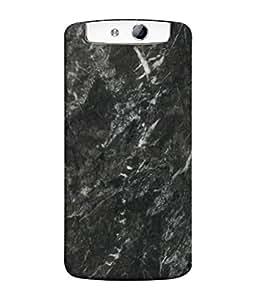 PrintVisa Black Stone 3D Hard Polycarbonate Designer Back Case Cover for Oppo N1