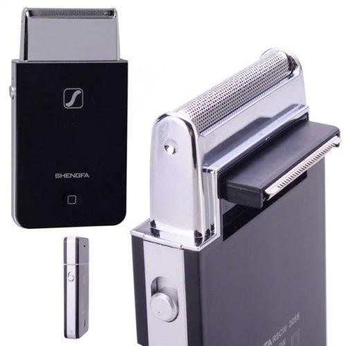 Mini Elektrorasierer Akku Stil iPhone Bart lang kurz 2Klingen Stahl