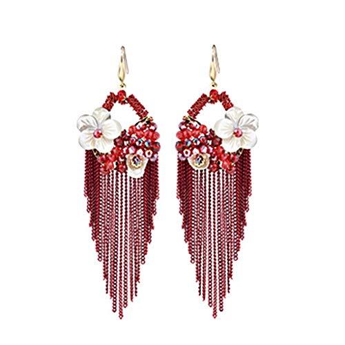 SXLLOhrring Ohrringe - ethnischen Stil übertrieben Ohrringe Brautkleid Cheongsam mit Ohrringe...