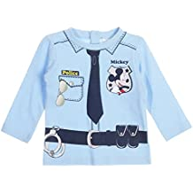 Tee Shirt Manga Larga Bebé Niño Mickey trompe-oeil Policía de 6a 23meses