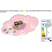 Babylampe mit Motiv Eule und Schlummerfunktion / Farbe: Rosa (auch in anderen Farben erhältlich) Kinderlampe Kinderzimmerlampe Babylampe mit Nachtlicht Kinderlampe mit Nachtlicht