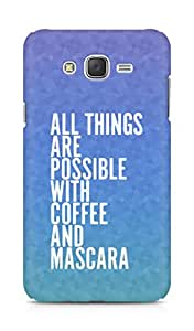 AMEZ all things are possible with coffee and mascara Back Cover For Samsung Galaxy J7