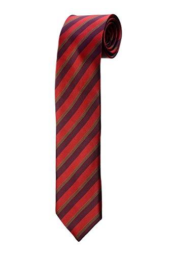 Krawatte rot gestreift, bordeaux und gold Design Kostüm Herren (Cravate Bordeaux Kostüm)