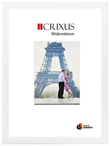 CRIXUS Crixus35 Bilderrahmen für 50 cm x 75 cm Bilder, Farbe: Weiß Matt, Holzrahmen MDF...