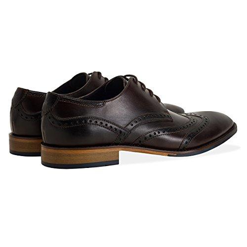 GOODWIN SMITH Herren Gisburn Leather Brogue Shoe Tan Brown