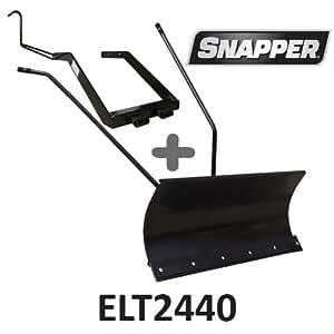 Lame à Neige 118 cm Noire + adaptateur pour Snapper ELT2440