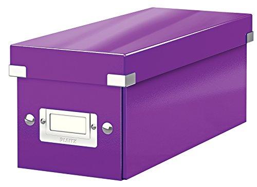 Leitz CD Aufbewahrungsbox, Lila, Mit Deckel, Click & Store, 60410062 (Organisation-boxen)