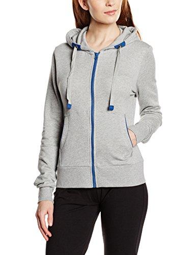 Intimuse Damen Sport Sweatjacke, Grau (Grau-Melange), 40 (Herstellergröße: M)