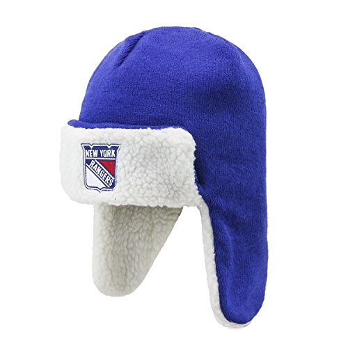 OTS NHL Breck Sherpa Hunter Knit Cap, one Size, Unisex, NHL Breck OTS Sherpa Hunter Knit Cap, One Size, königsblau Hunter Knit Hat