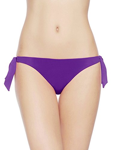 EONAR Damen Niedriger Bund Bikinihosen Seitlich zu binden Brazil-Bikinislip (XL,Purple) (Low-rise Hipster Cheeky)