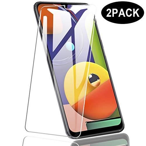 Preisvergleich Produktbild Dotuo (2 Stücke Panzerglas Schutzfolie für Samsung Galaxy A50S,  9H Härte Anti-Kratzen [2.5D Folie] [Bubble Free][Full Scratch Protection] Schutzfolie für Samsung Galaxy A50S