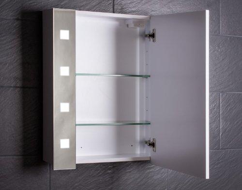 Galdem CUBE60 Spiegelschrank – holz, 60 x 65 x 15 cm, weiß - 2