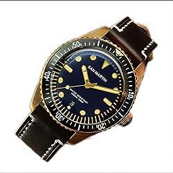 WDXDP Montres Bracelet Montre Homme Vintage Soixante-Cinq Bronze Montre Plongée Montre Automatique 200M Résistant À l'eau Hommes Montre