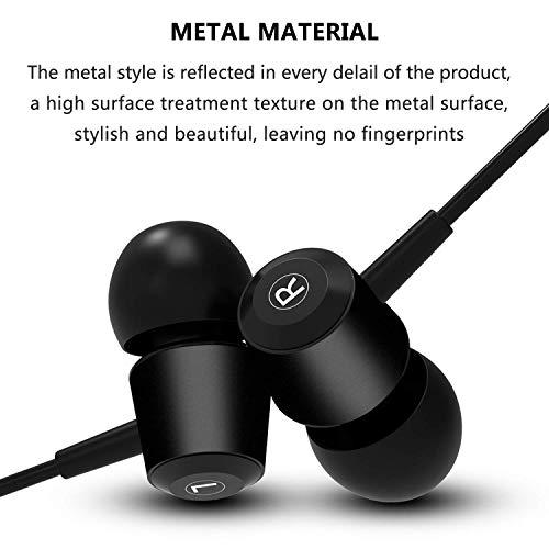 Tiulaues Écouteurs Intra-Auriculaires | Design céramiques | Inear Hauts de Gamme | Earphone Modèle « Urban » en Noir