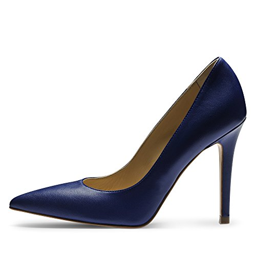 ALINA Damen Pumps Glattleder Blau