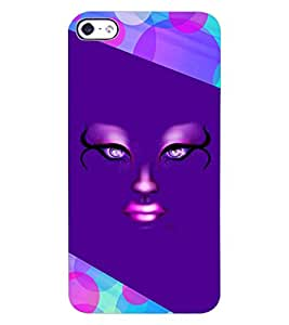 ColourCraft Creative Face Design Back Case Cover for APPLE IPHONE 4