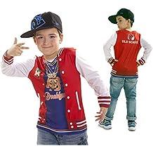 3332d076220ee Disfraz Camiseta de Rapero Original de Carnaval para niño de 4-6 años de  Microfibra