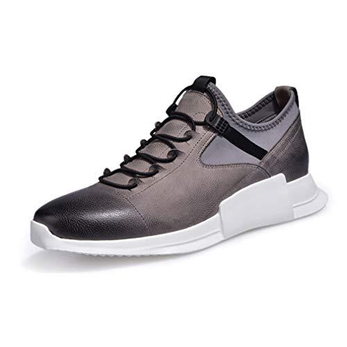 Sportliche Running-schuh (YAN Herrenschuhe Leder Herbst & Winter Running Trainer Sportliche Walking Gym Schuhe Stoßdämpfende Gym Athletic Sneakers)