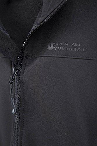 Mountain Warehouse Exodus Wasserbeständige Softshelljacke für Damen - Atmungsaktiver Damenmantel, abgerundete Rückenpartie - Regenmantel für den Alltag und kaltes Wetter Schwarz DE 34 (EU 36) - 5