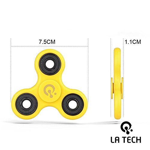 Fidget Spinner Toy Stress Reducer Perfect For ADD ADHD Anxiety and Autism Adult Children (Yellow) - 2